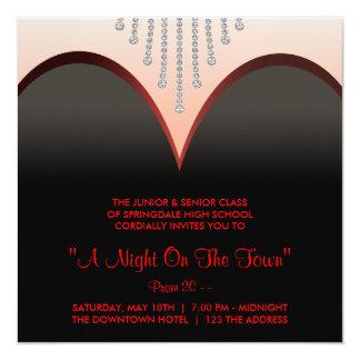 Black Tie Formal Prom Invitations