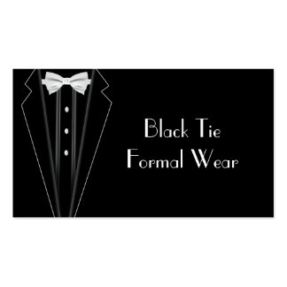 Black Tie Formal Tuxedo Business Double-Sided Standard Business Cards (Pack Of 100)
