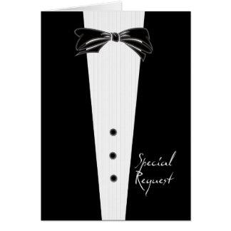 Black Tie Groomsman Cards