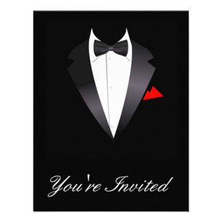 Black Tie Invites with good invitation layout