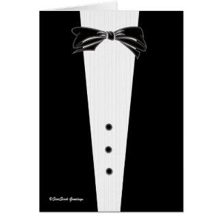 Black Tie Invitation, Best Man Greeting Card