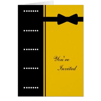 Black Tie Invitation (Gold) Cards