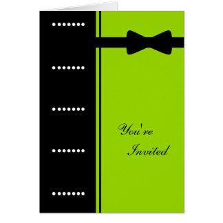 Black Tie Invitation (Lime Green)