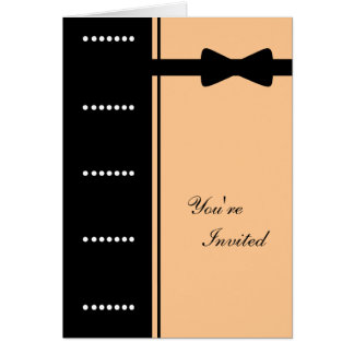Black Tie Invitation (Peach)