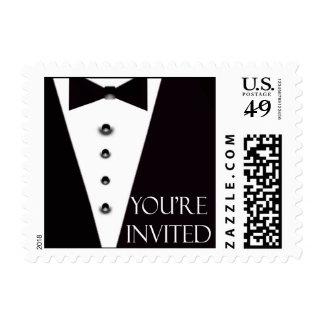 Black Tie Invitation Postage - Small size stamp