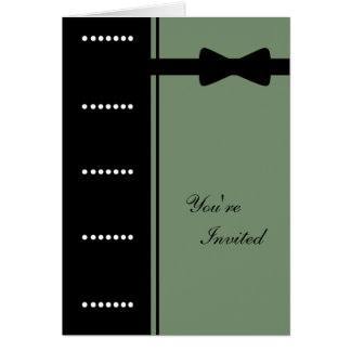 Black Tie Invitation (Sage Green)