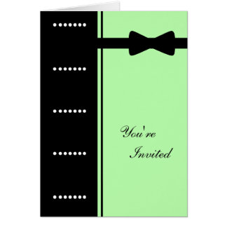 Black Tie Invitation (Sea Foam Green)