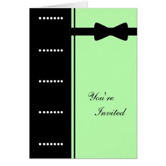 Black Tie Invitation (Sea Foam Green)