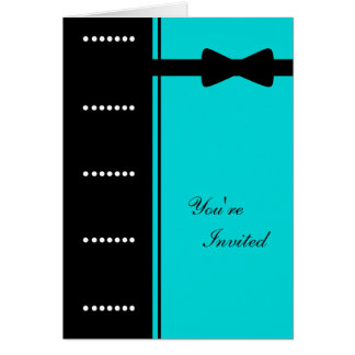 Black Tie Invitation (Turquoise)