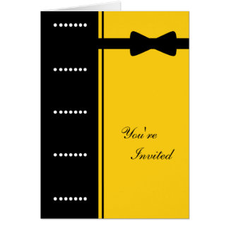 Black Tie Invitation (Yellow)