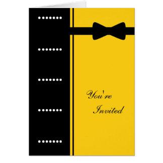 Black Tie Invitation (Yellow)