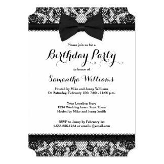 Black Tie Birthday Party Invitations & Announcements | Zazzle