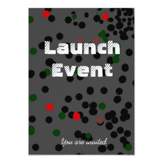 Black Tie Launch event party Card