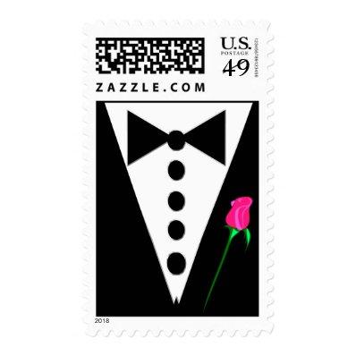 Black Tie Postage Stamp