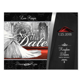 Black Tie Save the Date Card