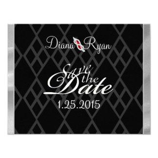 Black Tie Save the Date 4.25x5.5 Paper Invitation Card