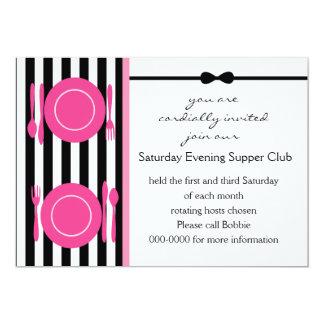 Black Tie Supper Club Card