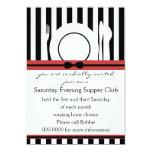 Black Tie Supper Club Invites