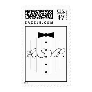 Black Tie Tux RSVP Stamps