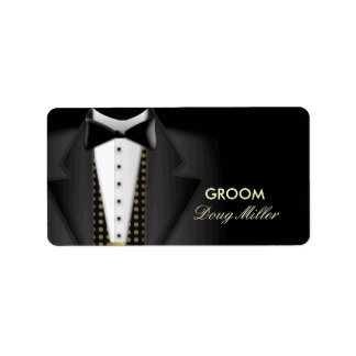 Black Tie Tuxedo address labels