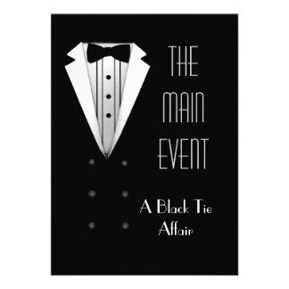 Black Tie Tuxedo Custom Invitation
