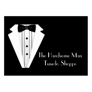 Black Tie-Tuxedo Mens Store Large Business Cards (Pack Of 100)