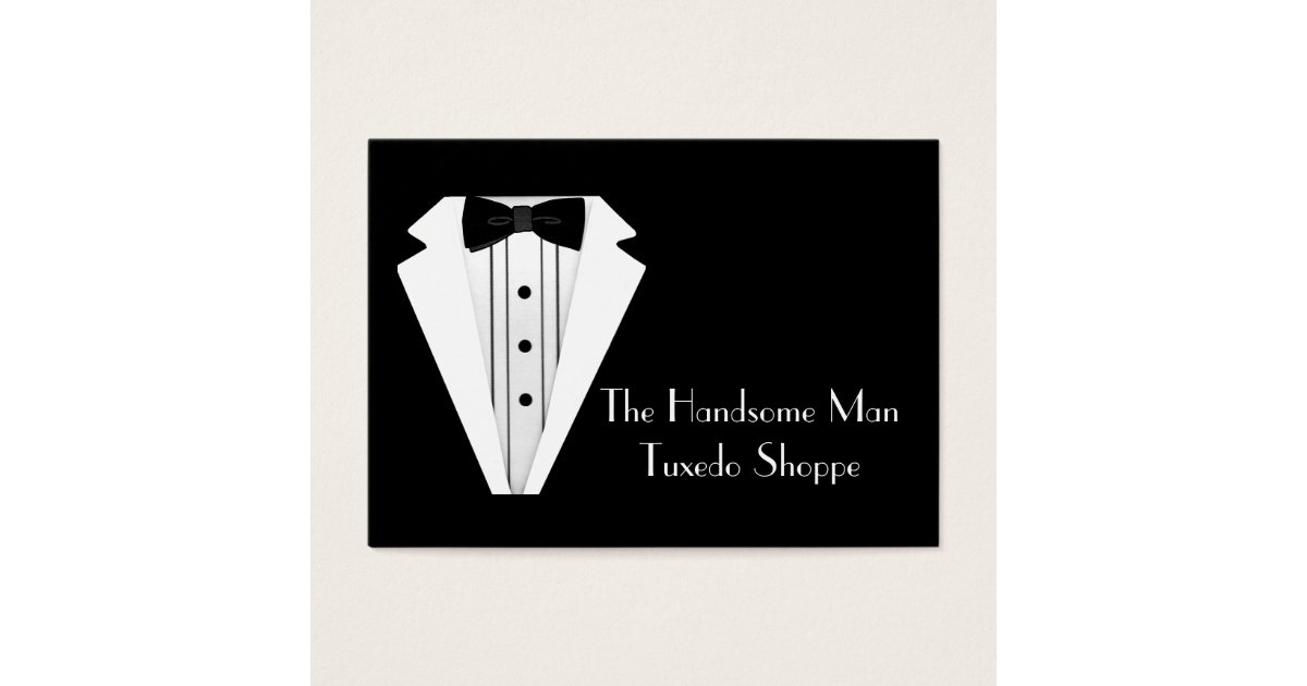 Black Tie Tuxedo Mens Store Business Card | Zazzle.com