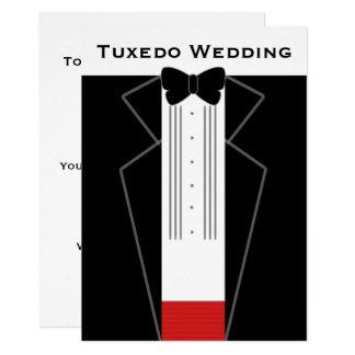 Black Tie Tuxedo Wedding Invitation