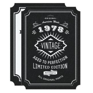 Black Tie Vintage 40th Birthday Party Card