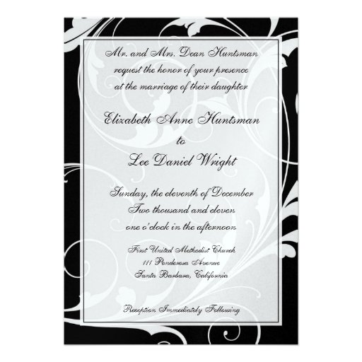 Black Tie Wedding Invitations is the best ideas you have to choose for invitation example