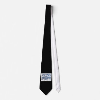 Black Tie with Zazzle  Elue and white Emblem