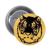 tiger, urban, cool, animal, offensive, funny, black, cat, funny animal, vector, animals, tigers, jungle, Button with custom graphic design