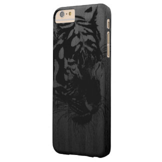 black tiger print on wood digital art barely there iPhone 6 plus case