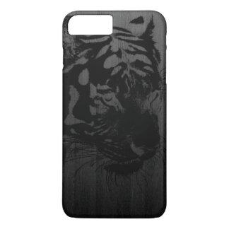 black tiger print on wood digital art iPhone 7 plus case