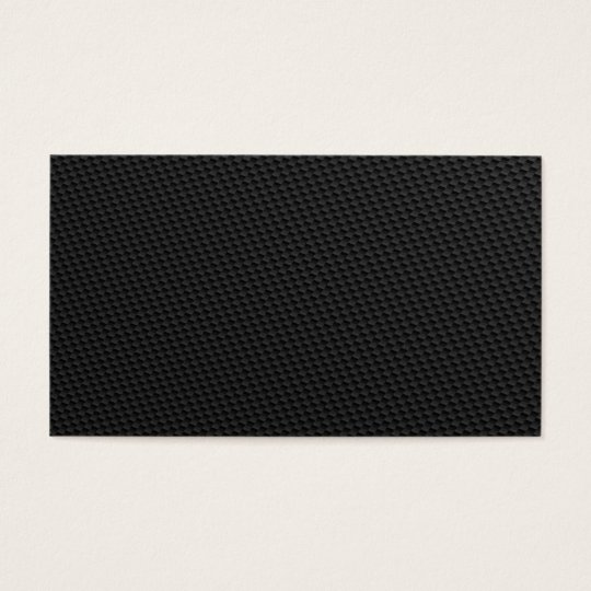 Black Tightly Woven Carbon Fiber Textured Business Card