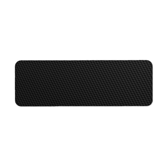 Black Tightly Woven Carbon Fiber Textured Label
