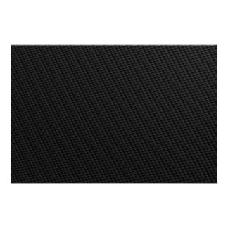 Black Tightly Woven Carbon Fiber Textured Print