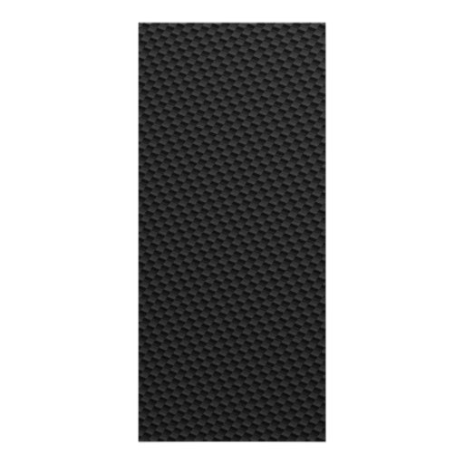 Black Tightly Woven Carbon Fiber Textured Rack Card