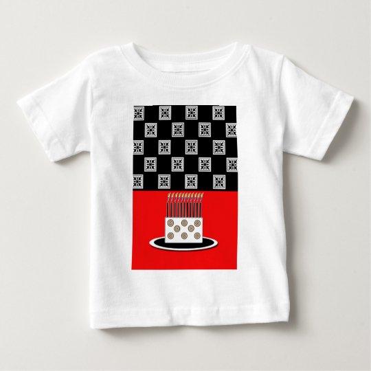 Black Tile Birthday Cake Baby T-Shirt