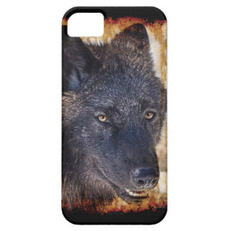 Black Timber Wolf Portrait iPhone 5 Case