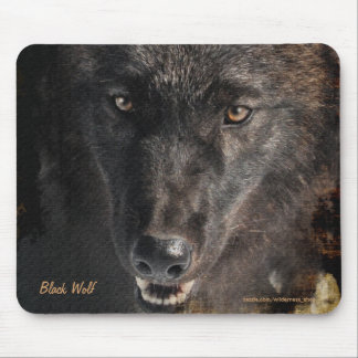 Black Timber Wolf Wildlife Conservation Mousepad