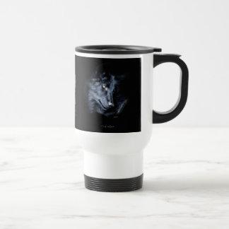 BLACK TIMBER WOLF Wildlife Gift Mugs