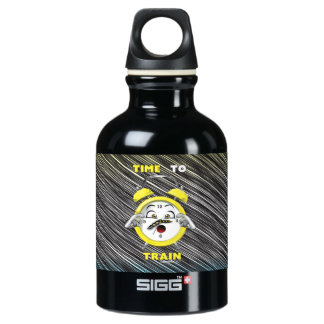 Black Time to Train 0.3L Water Bottle
