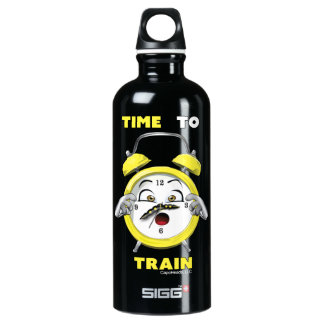Black Time to Train 0.6L Water Bottle