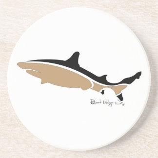 Black Tip Shark Coaster