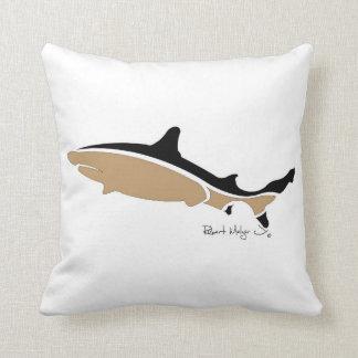 Black TIp Shark Pillow