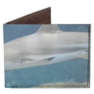 Black Tipped Shark Swimming Underwater Billfold Wallet