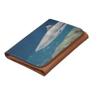Black Tipped Shark Swimming Underwater Wallet