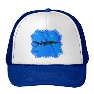 Black Tipped Shark Trucker Hat