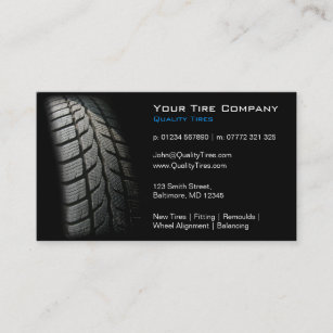 Tire business cards zazzle black tire fitting business card colourmoves